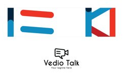 Video Talk - Chat Icon with Movie Camera Stock Logo Product Image 3