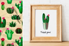Watercolor Cactus. Cacti Patterns Product Image 6