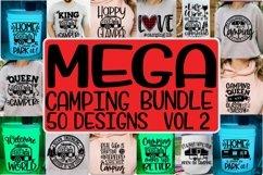 MEGA Camping Bundle VOL 2 -50 Designs - SVG PNG EPS DXF Product Image 1