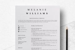Resume Template Minimalist | CV Template Word - Melanie Product Image 2