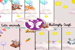 CUTE ANIMALS collection , Animals Digital Paper Product Image 1