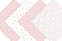 Pink Damask Digital Paper Product Image 2