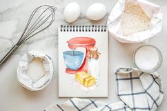 Baking Watercolor Clipart. Kitchen clipart. PNG Product Image 6