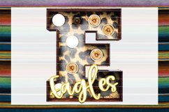 Eagles Leopard Marquee Sublimation PNG Product Image 1