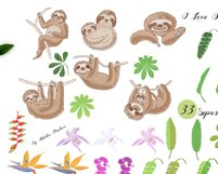 Sloths in Jungle Digital Clipart Product Image 3