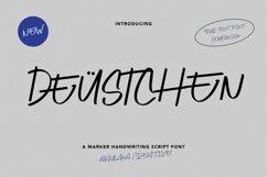 Deustchen Marker Handwriting Script Font Product Image 1
