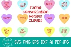 Funny Converstation Hearts Clipart Product Image 1