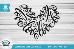 Love Word Heart SVG cutting file Product Image 1