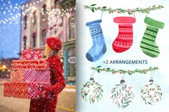 Christmas time. Watercolor elements Product Image 3