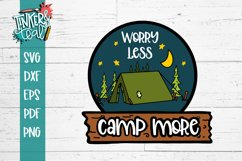 Worry Less Camp More Tent SVG Product Image 2