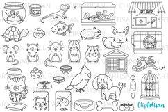 Pets Clipart, Pet Shop Digital Stamps, PNG SVG Product Image 1