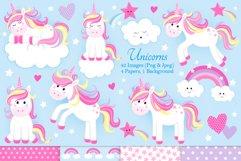 Unicorn clipart, Unicorn graphics & Illustrations, Unicorns Product Image 1