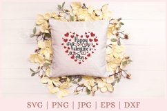 Valentine heart SVG, Happy Valentine's Day SVG Product Image 3