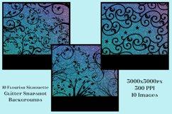 Flourish Silhouette Glitter Snapshot Backgrounds - 10 Images Product Image 2