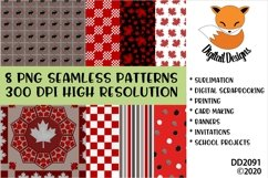 Canadian Theme Seamless Patterns Digital Paper Pack Product Image 1