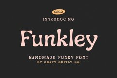 Funkley - Handmade Funky Font Product Image 1