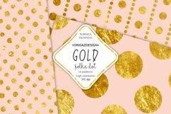 Gold foil Polka dot Blush Pink Seamless Pattern Product Image 4
