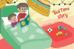 Bed Time Story - Vector Illustration Product Image 1