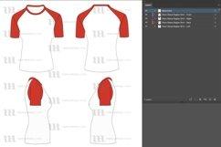 Raglan Women's Short Sleeve Shirt - Vector Mockup Template Product Image 6