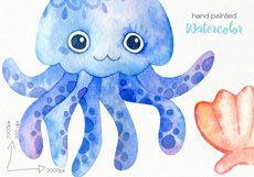 Watercolor Underwater Clipart - PNG Files Product Image 4