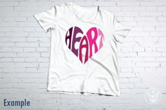 Heart SVG cut file in a Heart Shape Product Image 2