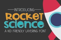 Rocket Science Layering Font Product Image 1