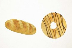 Watercolor Bakery Clipart, Bakery Clip Art, Bakery PNG Product Image 4