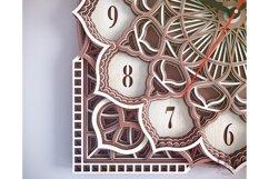 C09 - Wall Clock for Laser cut, Mandala Clock DXF pattern Product Image 6