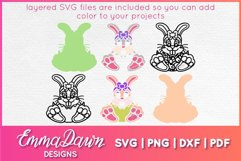 BELLA THE EASTER BUNNY SVG, MANDALA ZENTANGLE 2 DESIGNS Product Image 3