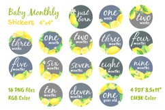 Baby Boy or Girl Monthly Circle Printable Stickers Product Image 2