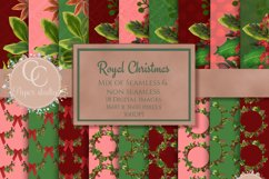 Christmas digital papers - Royal Christmas wreath Product Image 1