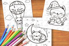Printable Kitties Coloring Pages for Kids, Vol. 3 Product Image 1