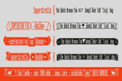 Superstretto Geometric banner logofont 4 family font Product Image 3
