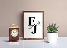 Split Monograms Font Product Image 2