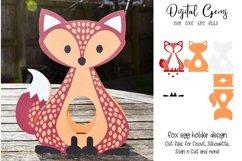 Fox Easter egg holder design SVG / DXF / EPS Product Image 1