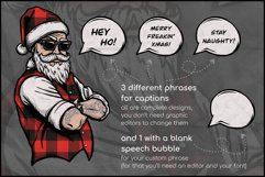 Buffalo Plaid Santa for Sublimation, Christmas Design Product Image 2