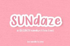 Sundaze - Quirky Handwritten Font Product Image 1