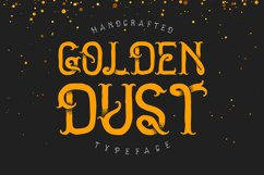 Golden dust typeface Product Image 1