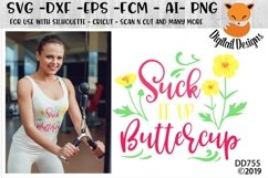 Suck It Up Buttercup Fitness SVG Product Image 1