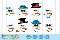 Snowman Face SVG Bundle - Snowman SVG - Christmas Product Image 1