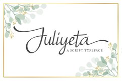 Juliyeta script font Product Image 1