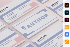 Author Business Card Product Image 1