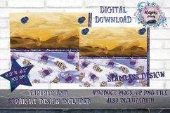 Coffee swirl|Sublimation Design|20oz Skinny Tumbler Wrap Product Image 2