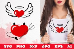 Valentine's SVG Cut files - Valentines day SVG angel heart Product Image 1