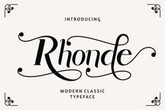 Rhonde - Modern Classic Font Product Image 1