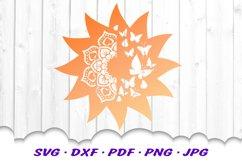 Mandala Butterfly Sun Celestial SVG DXF Cut Files Product Image 3