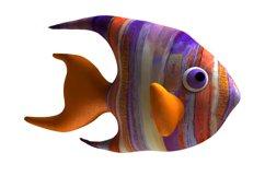 Angelfish PDF Plush Pattern Resizing Product Image 1