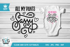 All My Pants Are Sassy SVG cutting file Product Image 1