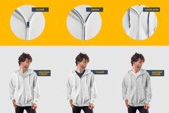3 Men's Zip Hoodie Mockups Product Image 4