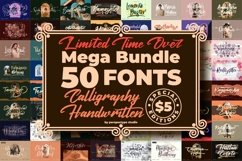 Awesome Mega Bundle 50 Fonts from Perspectype Studio Product Image 1